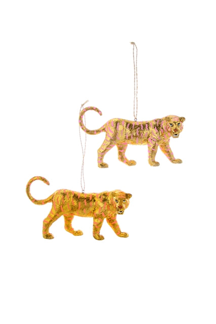 Gold Leaf Tiger Ornament