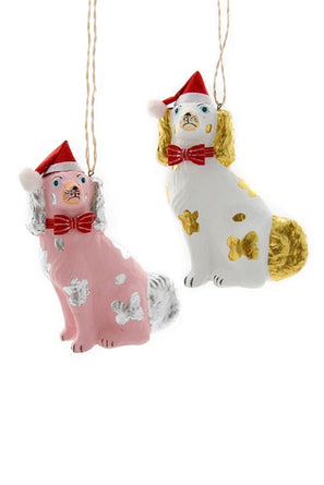 Festive Spaniels Ornament Pink or White