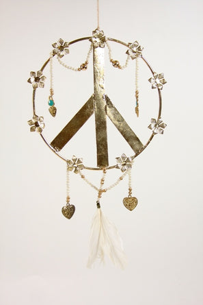 Boheme Peace Sign Ornament