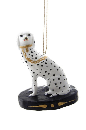 Spotted Dalmation Blue Matte Ornament