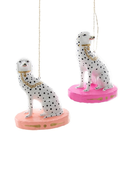 Spotted Dalmatian Coral or Pink Ornament