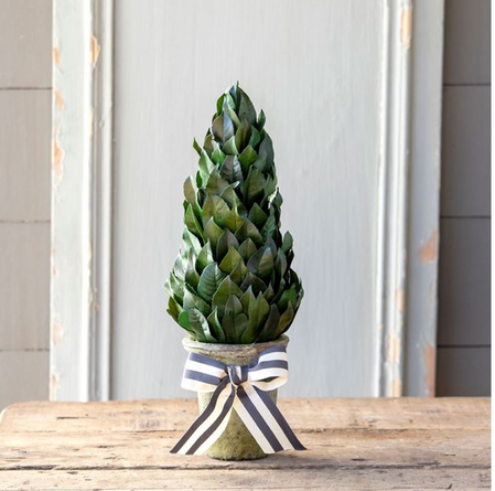 "Lemon Leaf 16"" Cone Topiary"