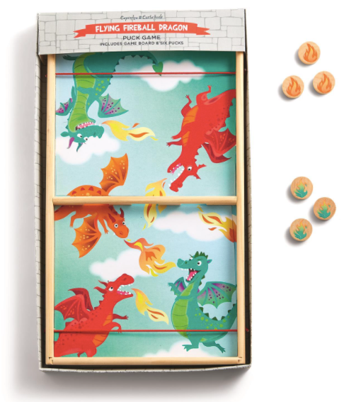 Flying Fireball Dragon Fast Puck Game