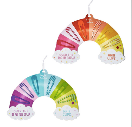 Rainbow Hair Clips on Gift Card