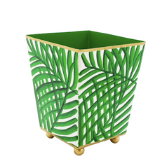 "Green 4"" Palm Frond Cachepot"