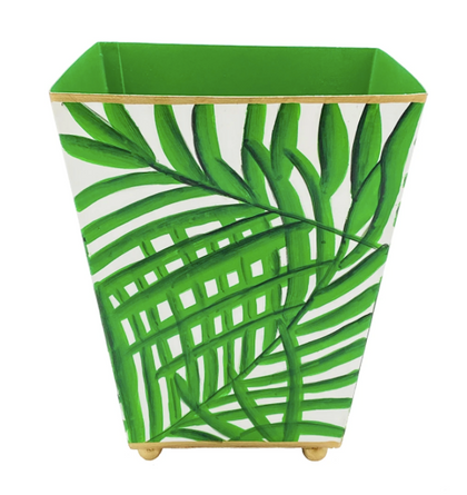 "Green 6"" Palm Frond Cachepot"