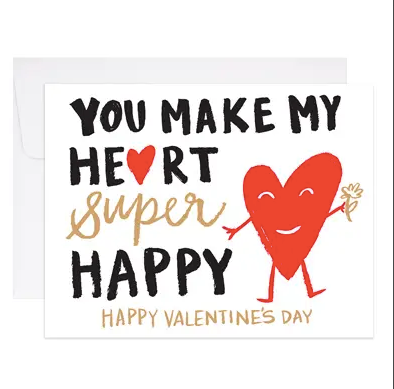 Happy Heart Greeting Card