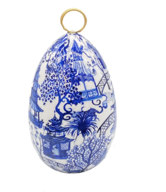 Blue Garden Party Medium Egg