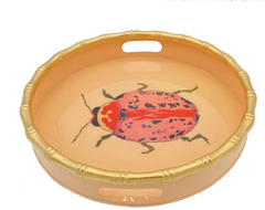 "Blush Arabella Beetle 14"" Round Tray"