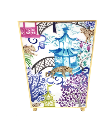 Danika Herrick Garden Party Wastebasket