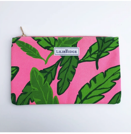 Lotta Leaf Pink Lilibridge Clutch