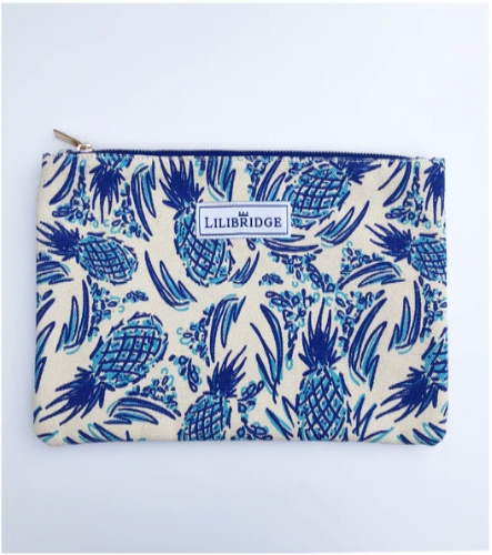Pineapple Blue Lilibridge Clutch