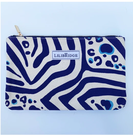 Zebra Cat Blue Lilibridge Clutch