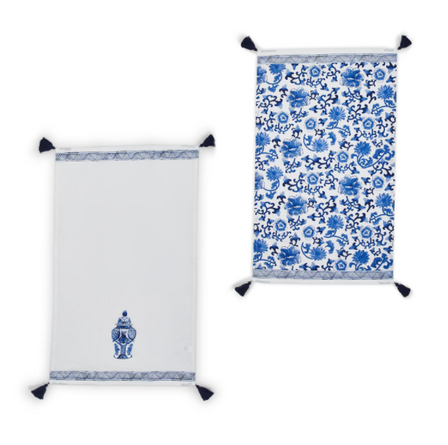 S/2 Ginger Jar Chinoiserie Dish Towels