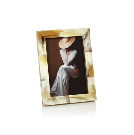 Nairobi Matt White Bone 5x7 Photo Frame - Multicolor