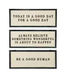 "Art- Inspirational Plaques for Wall 7"" x 18"" (select from 3)"