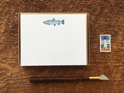 Trout Boxed Stationery Set