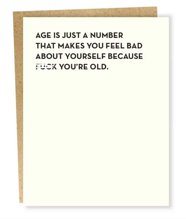 Age is Just a Number Greeting Card