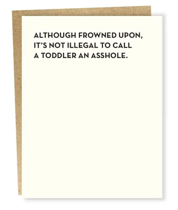 Toddler Parenting Greeting Card