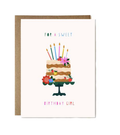 For a Sweet Birthday Girl Card