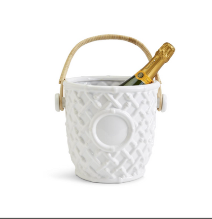 HAMPTON FAUX BAMBOO FRETWORK CHAMPAGNE/WINE BUCKET