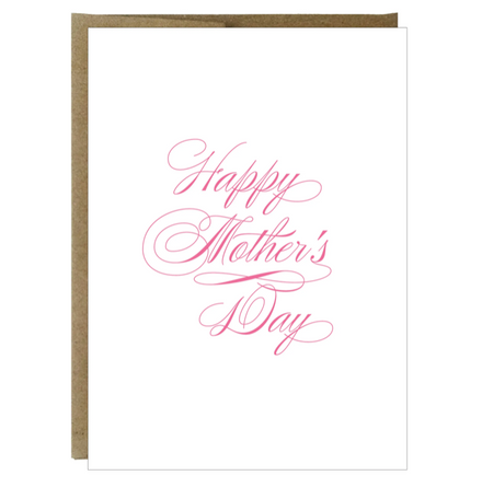 Happy Mother's Day Cursive Greeting Card