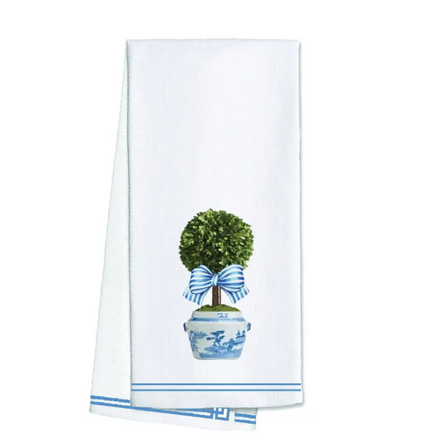 Striped Topiary Tea Towel