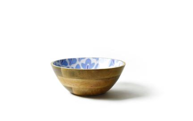 Iris Blue Sprout Mango Footed Bowl