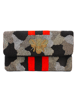 Camo Bee Gray Black Camo Clutch