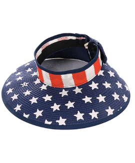 Stars and Stripes Patriotic Sun Visor