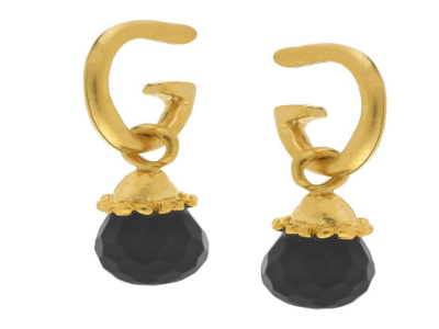 Black Gigi Drop Earrings