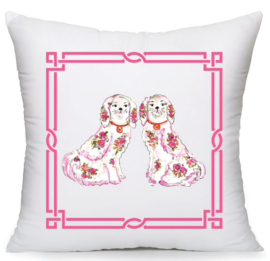 Pink Staffy Duo Pillow