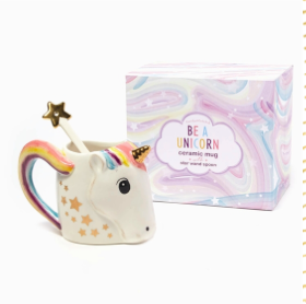 Unicorn Mug with Stirrer