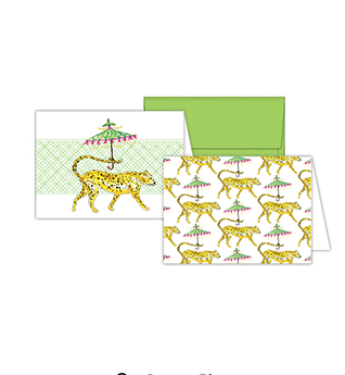 Fancy Cheeta Stationery Notecards