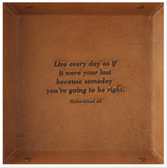 Leather Quote Desk Tray
