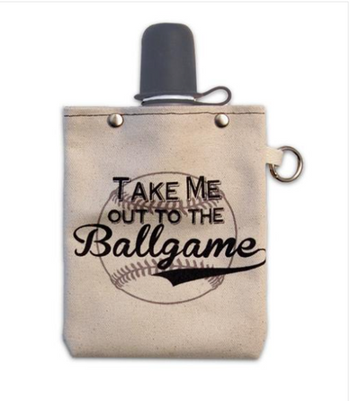 Out To Ball Game 8oz Flask