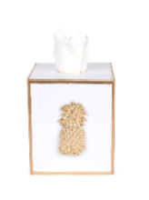 Regency Pineapple White Tissue Box