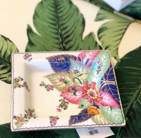 Tobacco Leaf  Trinket Dish