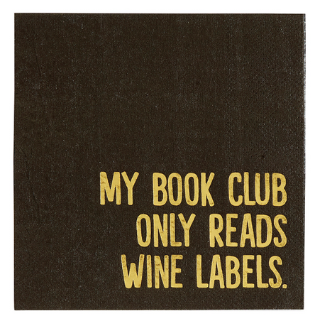 Book Club Only Reads Labels Napkins