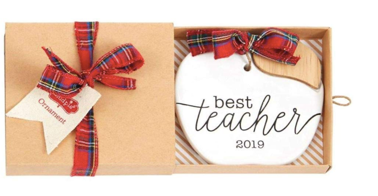 Best Teacher 2019 Ceramic Ornament
