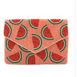Watermelon Seed Bead  Clutch