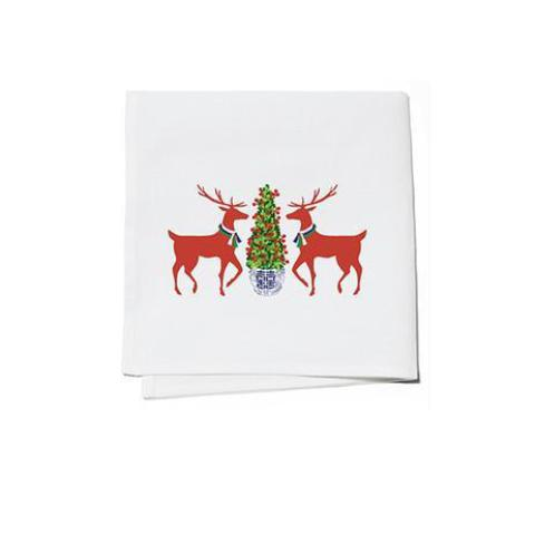 REINDEER COCKTAIL NAPKINS (S/4) BY WH HOSTESS