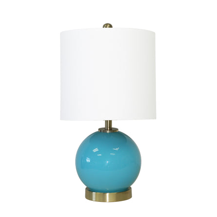 "Turquoise 19"" Table Lamp"