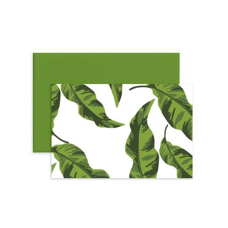Banana Leaves Folded Notecard Set/12