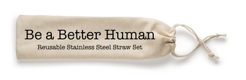 Steel Straw Be A Better Human