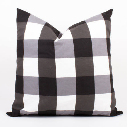Black & White Gingham Pillow