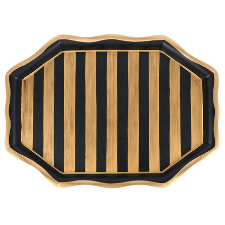Black Gold Stripe Tray