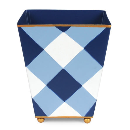 Blue Buffalo Plaid Cachepot 6""