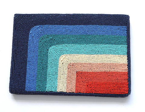 Rainbow Symmetrical Beaded Clutch