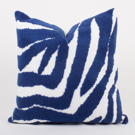 Blue Zebra Pillow